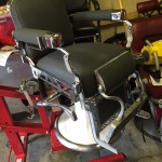 Black barber shop chair restored